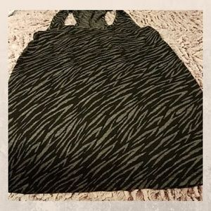 Black and gray tiger striped tank top small